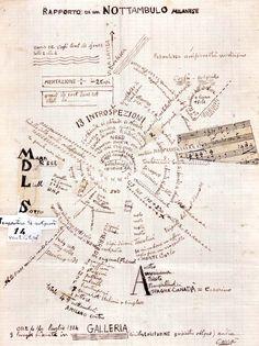 MoMA | Inventing Abstraction | Carlo Carrà | Rapporto di un nottambulo milanese (Chronicle of a Milanese night owl). 1914
