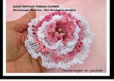 Ruffled Thread Crochet Flower
