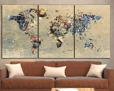 World Map CanvasLarge World MapWorld Map Wall ArtLarge Map Panels & World Map Wall ArtWorld Map Canvas ArtLarge World MapWorld Map 5 ...