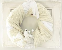 Craftberry Bush: The coziest (and easiest) wreath ever made...