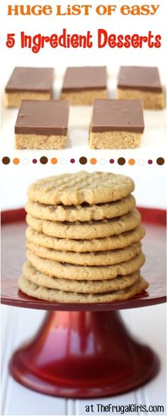 or Less Desserts Recipes! ~ from - you'll love this HUGE list of easy and delicious dessert recipes!Ingredient or Less Desserts Recipes! ~ from - you'll love this HUGE list of easy and delicious dessert recipes! Cake Mix Cookie Recipes, Dump Cake Recipes, Cake Mix Cookies, Dessert Recipes, Crinkle Cookies, Fudge Recipes, Easy Delicious Recipes, Delicious Desserts, Yummy Food