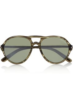 Tom FordJasper aviator-style acetate sunglasses