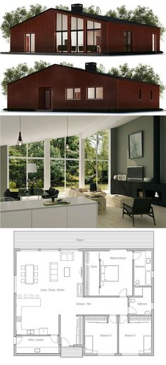 Small house plan huisontwerpen pinterest small for Homes with separate living quarters