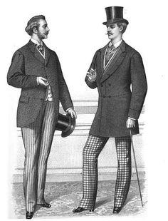 Gentlemen's daywear, from 'Gazette of Fashion, and Cutting-Room Companion,' 1870.