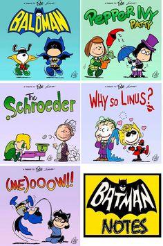 Batman / Peanuts mash-up