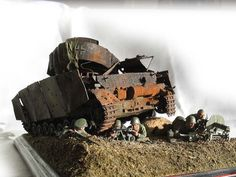 Dioramas and Vignettes: Panzer IV knocked out, photo #1