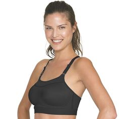 Champion Bra: The Show-Off High-Impact Wire-Free Sports Bra 1666, Women's, Size: