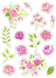Скрапбукинг, рукоделие Printable Stickers, Cute Stickers, Printable Planner, Printables, Journal Stickers, Art Journal Pages, Planner Stickers, Tumblr Stickers, Aesthetic Stickers
