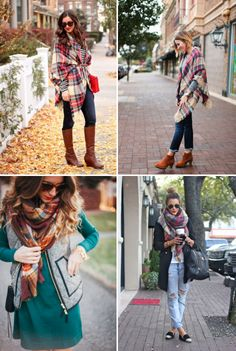 20 Style Tips On How To Wear Plaid Scarves