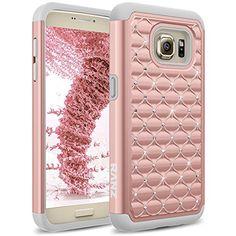 Galaxy S7 Case, RANZ® Grey/ Rose Gold Spot Diamond Studded Bling Crystal Rhinestone Dual Layer Hybrid Cover Silicone Rubber Skin Hard Case For Samsung Galaxy S7 RANZ http://www.amazon.com/dp/B01AJ1D42A/ref=cm_sw_r_pi_dp_kVt4wb1PW7YYZ