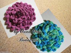 crochet tutorial for flower ♥ Tunisian Crochet, Knit Or Crochet, Irish Crochet, Easy Crochet, Crochet Hats, Brooch Corsage, Sewing Patterns, Crochet Patterns, Crochet Baby Cocoon