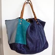 """Résultat de recherche d'images pour """"cabas bleu en tissu"""""""