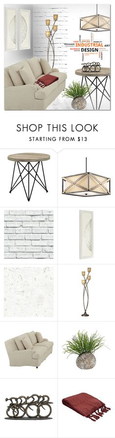"""""""Industrial Design"""" by ansev ❤ liked on Polyvore featuring interior, interiors, interior design, home, home decor, interior decorating, Kichler and Kathy Ireland"""
