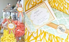 picture on the left: candy buffet Candy Jar Labels, Candy Jars, Candy Buffet, Wedding Inspiration, Wedding Ideas, Apothecary Jars, Dessert Table, Event Design, Candies