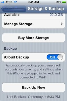 iCloud backup restore from backup