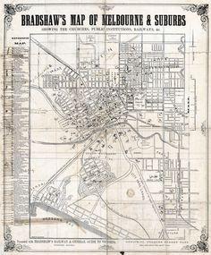 Melbourne Map, Melbourne Suburbs, Australia Map, Melbourne Australia, Priscilla Barnes, Old Maps, History Photos, Amazing Pics, Fun Things