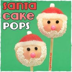 DIY Cake Pop Recipe : Santa Christmas Cake Pops