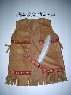 Child's INDIAN COSTUME Native American Indian von kutekidskreations