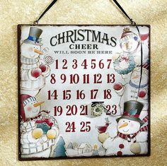 Cheery Snowmen Countdown Board from Lillian Vernon.  Help ease the anxiety as the family waits for Christmas. Simply move the attached wreath magnet daily to mark the date. Everyone can see at a quick glance how many days are left.   Get your rebate from RebateGiant.