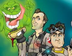 """Check out new work on my @Behance portfolio: """"Ghostbusters. Illustration"""" http://be.net/gallery/36974713/Ghostbusters-Illustration"""