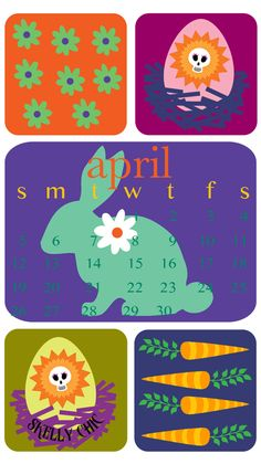 Happy April! Free Skelly Chic smartphone and desktop wallpapers are available on my blog! No fooling!