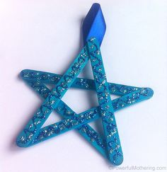 fáceis de artesanato varas estrela do natal