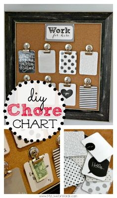 DIY Chore Chart Work for Hire System - NICE instructions & detailed pictures!  I LOVE it!