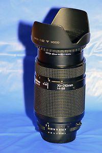 NIKON NIKKOR 70-210MM F/4-5.6 AUTOFOCUS LENS WITH CAPS, UV FILTER AND LENS HOOD.MINT!!!
