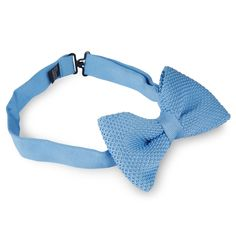Baby Blue Knitted Bow Tie This perfect baby blue bow tie features durable knit construction, pre-tied design, and an adjustable neck strap. Baby Girl Bows, Baby Girl Headbands, Newborn Headbands, Girls Bows, Baby Turban, Blue Bow Tie, Baby Bloomers, Baby Boy Fashion, Baby Booties
