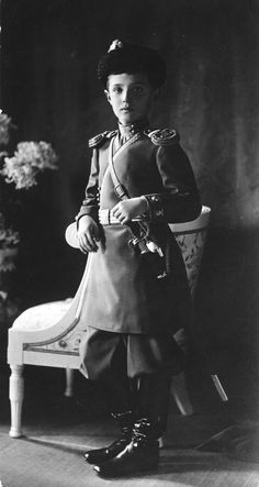 Alexei Nikolaevich Romanov was the Tsarevich & heir apparent to the throne of the Russian Empire. He was the youngest child & only son of Emperor Nicholas II & Empress Alexandra Feodorovna. Born with hemophilia; his mother's reliance on Rasputin to treat the disease helped bring about the end of the Romanov dynasty. After the Revolution of 1917, he and his family were sent into exile in Siberia. He & his family were murdered during the  Russian Civil War by order of the Bolshevik government