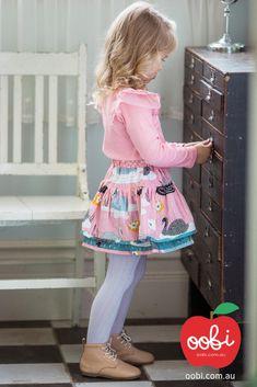 Kids Girl Cute Tights with Print Pink Cream Raspberry White