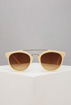 Brow Bar Round Sunglasses | Forever 21 - 1000080697