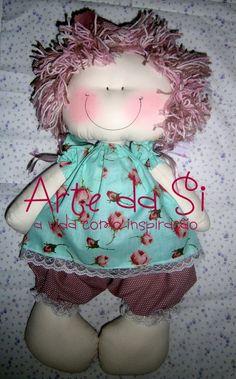 boneca de pano 50cm