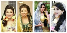Right pic makeup by huma Sharif and left pic makeup by amb'z beauty zone and photography by Azy