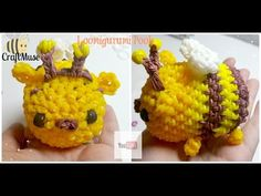 Rainbow Loom Honeybee Pooh Loomigurumi (Inspired by TSUM TSUM) - YouTube