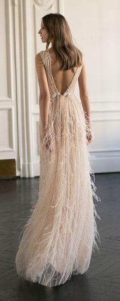 Eisen Stein Isabelle deep v neck wedding dress with open back #weddingdresses #bridalgown #weddingdress #bohoweddingdress #vintageweddingdress