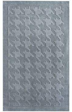 Rugs USA Spectrum Houndstooth Texture Blue Rug