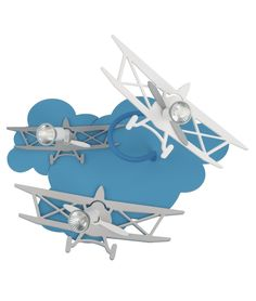Adjustable 3D Airplane Wall Light - Available in 3 Sizes
