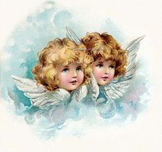 Harriet Bennett Angels Cherubs Repro Fabric di KatyDidsFabrics, $5.99