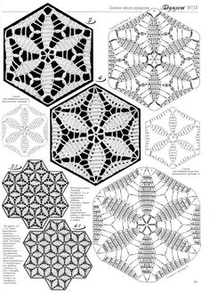 ru / Foto # 24 - I motivi triangolari - Alleta Crochet Triangle, Crochet Stars, Crochet Granny, Filet Crochet, Crochet Doilies, Crochet Flowers, Crochet Motif Patterns, Form Crochet, Crochet Blocks