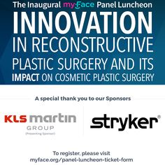 myFace would like to thank to KLS Martin and Stryker for sponsoring the myFace Panel Luncheon! Join us on Mar. 6th for an informative #panel discussion with exclusive access to the world renowned team of #craniofacial surgeons & #medical professionals from The Hansjörg Wyss Department of Plastic Surgery at NYU Langone Medical Center. Visit to learn more about this event!  #KLSMartin #Styker #Luncheon #NYU #NYULMC #PlasticSurgery #ReconstructiveSurgery