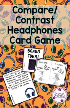 Speech Time Fun: Have fun identifying what is being compared/contrasted and verbally express the similarities and differences at the paragraph level with this fun and engaging card game!  visual aid, graphic organizer, and review sheet included!!