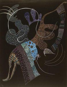 "felixinclusis:  wkandinskyart:""White line"". 1936 year.Wassily Kandinsky"