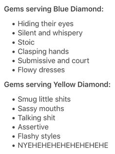 If i were a home world gem I'd be serving yellow diamond<<< I would say Blue but the only reason I don't talk around new people is because I'm terrified of what they'll think of me... If you know me I'll yell at you for like anything XD