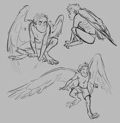 for feathers great and small Creature Concept Art, Creature Design, Wings Drawing, Art Poses, Drawing Reference Poses, Small Art, Character Drawing, Character Design Inspiration, Drawing People