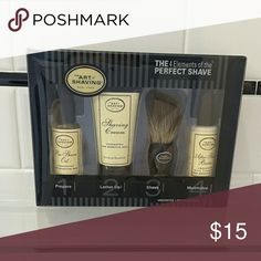 Art of Shaving Perfect Shave Sample Kit Art of Shaving Perfect Shave kit contains sample size of pre-save oil, unscented shave cream, after-shave balm and application brush. New, never used. Other