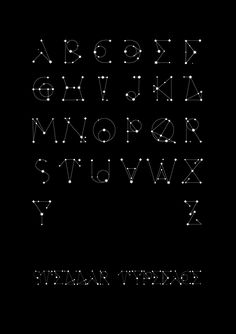 Stellar Typeface Many people regard stars as their treasures and wish upon them to make their dreams come true Alphabet Symbols, Hand Lettering Alphabet, Alphabet Design, Calligraphy Letters, Graffiti Lettering, Typography Fonts, Lettering Design, Inspiration Typographie, Writing Fonts