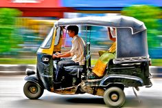 """Thai called it """" Tuk Tuk """" ... in India , ppl called """" OTTO"""" bike ~ Colorful india ... colorful world .. by lionwai, via Flickr"""