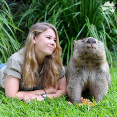 Steve Irwin's daughter Bindi and her wombat.   Everyone should have a wombat!