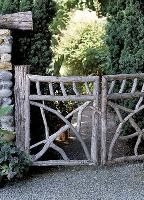 wood and metal garden gates